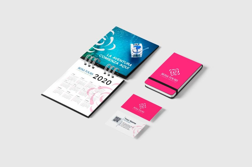 rosa tours branding mobile