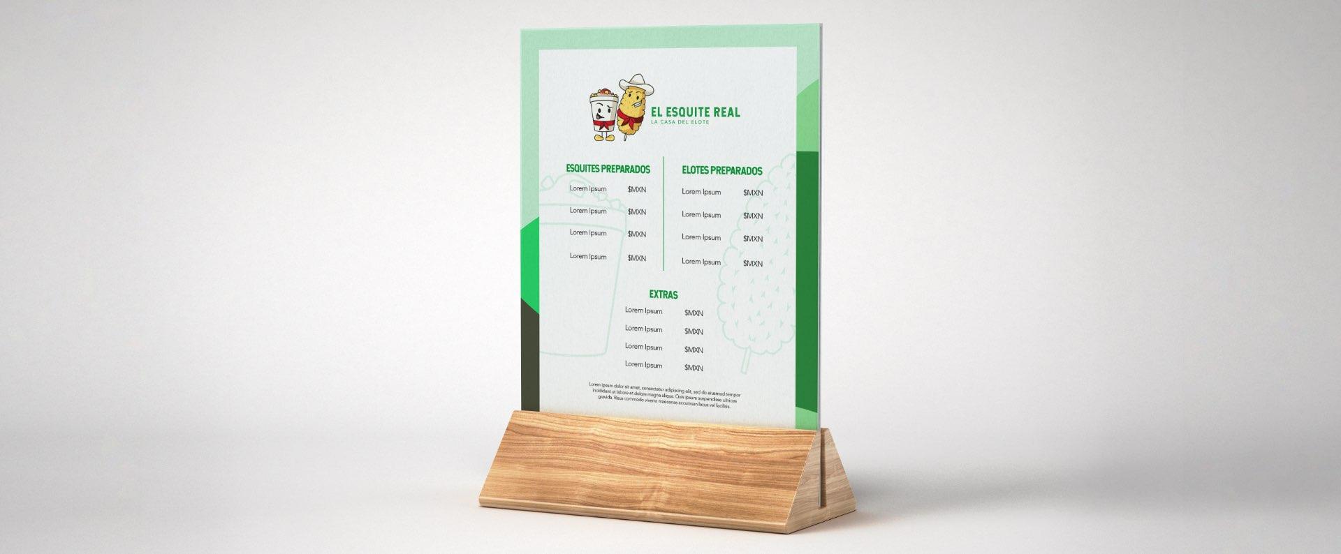 menu esquite real